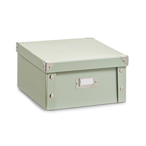 Zeller, cartón, cajas de almacenamiento, color verdePráctica caja de almacenamiento de madera de strudy verde Papper con integrado etiquetado campo. Las tapas están reforzados en las esquinas y la caja es plegable. Zeller, cartón, cajas de almacenam...