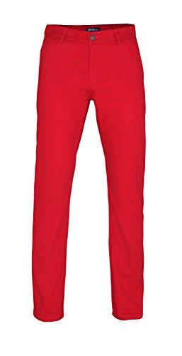 Herren Chino Hose in vielen Modefarben Sommerhose Herrenhose Cherry Red