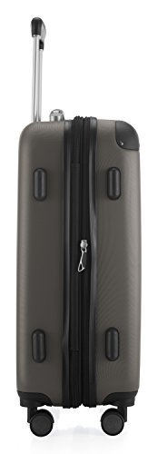 Hauptstadtkoffer - Spree - Handgepäck Hartschalen-Koffer Trolley Rollkoffer Reisekoffer Erweiterbar, TSA, 4 Rollen, 55 cm, 42 Liter, Graphit - 5