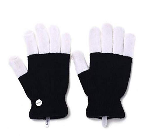 MEICHEN 1 stücke Light-up handschuh Toys led Glow Rave blinkhandschuh Glow 7 Modus leuchten fingerspitze Beleuchtung Paar schwarz vd hot Fashion