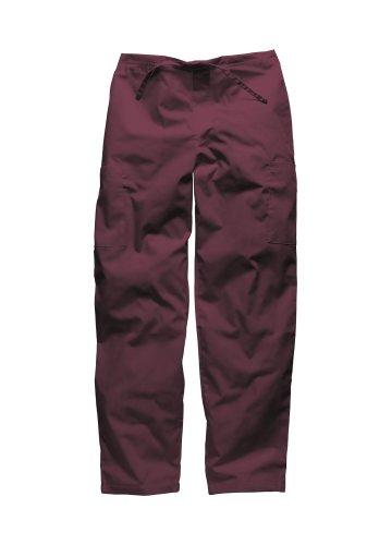 Pantalon médical Dickies unisexe Bordeaux