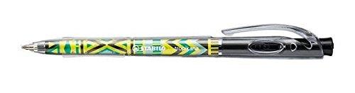 stabilo-tropikana-festival-spirit-retractable-ballpoint-pen-black-pack-of-3