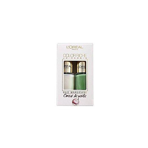 L' Oreal-Colour riche le Vernis Duo manicure Coeur de perle d' acqua dolce-008& 623Aquatic verde