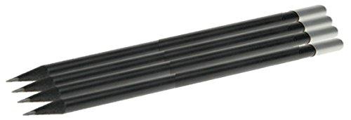 4er-Set Magnetbleistifte, schwarz