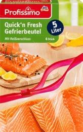 Profissimo Gefrierbeutel Quick`n fresh 5L, 6 Btl