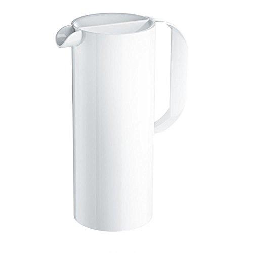 Koziol RIO - Jarra de plástico con tapa, 1,35 l, color blanco...