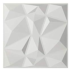 """3Drop 3D Drop Decken- und Wandfliesen - ultradünn 2x2 Lay-in PVC in matt weiß für die Verwendung in jedem 24"""" x 24"""" Deckenrastersystem 3DTC26"""