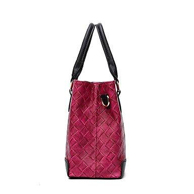 Donna PU tempo libero nuovo una borsa a tracolla borsetta,Nero Wine
