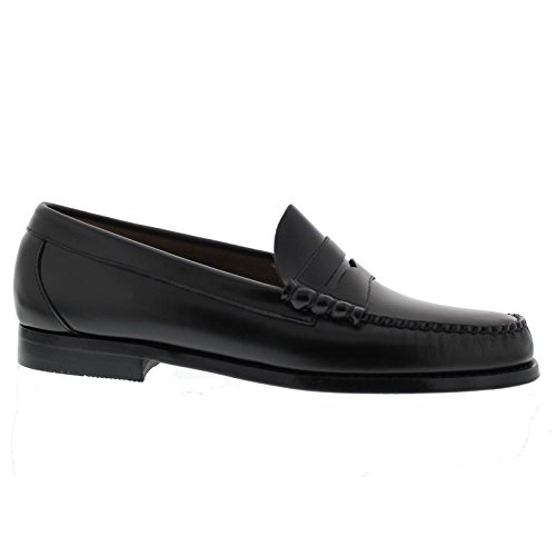 d4420bf3cde G. H. Bass Mens Weejuns Larson Moc Penny Black Leather Shoes 7.5 UK