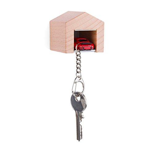 garage-con-porsche-934-rsr-rosso-per-la-parete-il-chiavi-board-in-legno-di-faggio-e-acciaio-inox-con