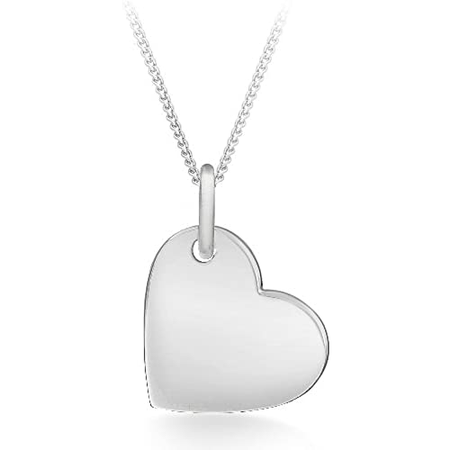 Sterling silver heart pendant amazon tuscany silver sterling silver polished heart pendant on chain necklace of 46cm18 aloadofball