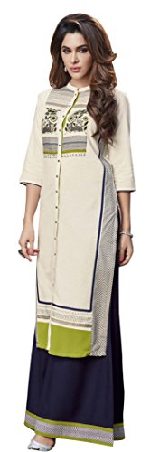 Readymade Plazo Suits for Women Stitched, Rosaniya Fully Stitched Reyon Cotton Straight...