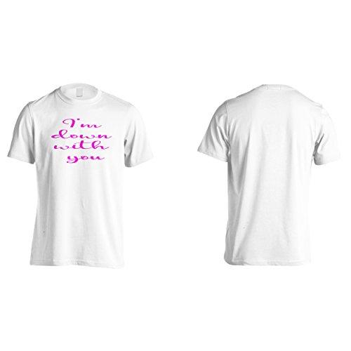 Sto con te divertente novità Uomo T-shirt f161m White