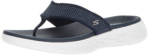 Skechers Damen on The Go 600 Sandalen, Blau (Navy/White), 35 EU