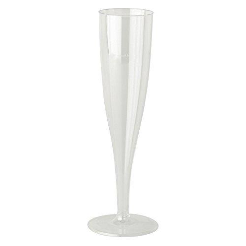 10 Larges flûtes de champagne en plastique