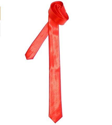 Retreez Cravate fine Styles et couleurs variés Rouge - Rouge