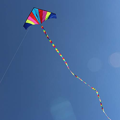 SECVBG  10 Meter Rainbow Bar Kite Tail für Delta Kite Lenkdrachen Kinder Kite Zubehör Spielzeug Bunte Kinder Outdoor Fun Sports Toys