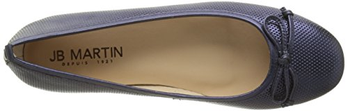 Jb Martin Damen 1miss Ballerinas Bleu (Veau Resille Ocean/Ch Braz Ocean)