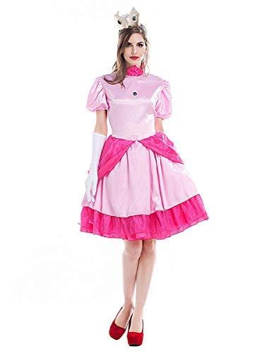 Peach Für Mario Und Kostüm Prinzessin Erwachsene - Fanessy. Super Mario Prinzessin Peach Kleid Kostüm Set für Damen Erwachsene Verkleidung Cosplay Outfits für Fasching Halloween Karneval Party