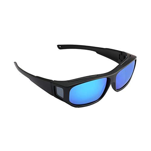 eve 2019 Polarisierte Sonnengläser Männer Lassen Brillen Vorgeben Gläser Filter Sun Glare Für Moypia Schwarz l Blau