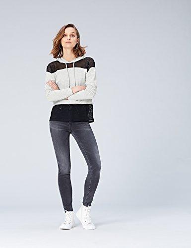 Activewear Felpa con Cappuccio e Inserti in Rete Donna, Grigio (Light Grey Marl), 46 (Taglia Produttore: Large)