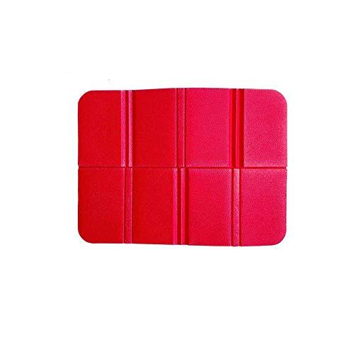 Ogquaton Tapis de Pique-Nique Pad de Coussin de siège Portable résistant à l'humidité des Coussins de Mousse Se Pliant pour Le Camping en Plein air Rouge
