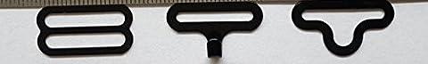 100 ensembles Bow Tie Lavallière Clip Hardware Clips fixation à crochets pour cravate noir Bracelet