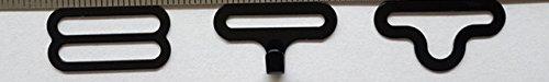 100 Sets Bow Tie Clip Hardware Cravat Clips Hakenverschluss für Krawatte Riemen schwarz