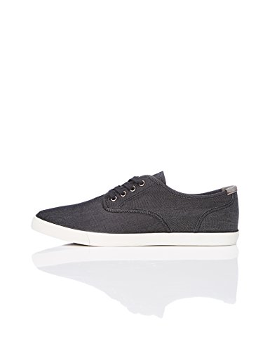FIND Herren Sneaker mit Denim-Look, Schwarz (Black), 43 EU (Halbschuhe Denim)
