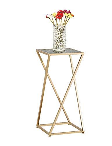 Stand De Fleurs Art De Fer Simple Moderne Carré Coin Marbre Au Sol Multifonctionnel Pot De Fleurs Étagère (taille : 34 * 34 * 75cm)