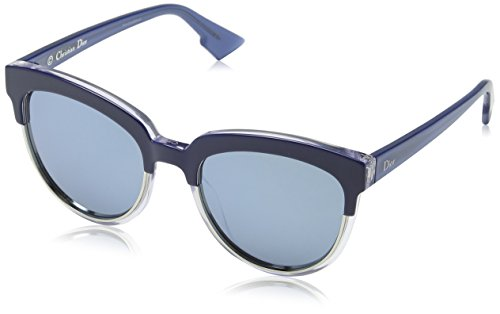 Dior Damen DIORSIGHT1 T7 REN Sonnenbrille, Blau (Bluette Crystal/Blue Grey Speckled), 54