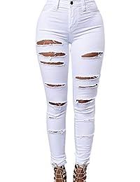 Zojuyozio Femmes été décontracté Taille Haute déchiré Denim Shorts ... 1bb33027aa06