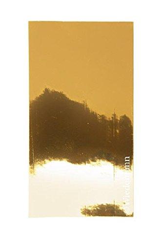 veredelte Verzierwachsplatten veredelt glänzend Gold 2 Stück, Wachsplatten zur Verzierung von...