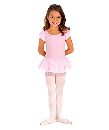 Body Wrapper Girls Tutu Leotard (158) -Light PINK -8-10 -