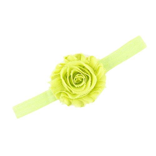 Stirnbänder, GJKK Schöne Baby Mädchen Stirnbänder Lace Up Elastische Haarbänder Blumen Kranz Krone Haarband Partei Kopf Zusätze Top Knot Blumen Kopfbedeckung (Stirnbänder Fluoreszierendes Grün, F) (Kind Kopf Kranz)