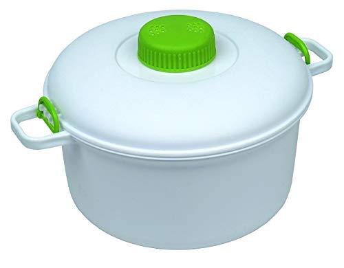 Olla a presión para microondas, Color Blanco, 27 x 21 x 15 cm