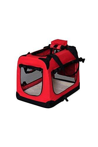 dibea TB10052,Borsa Trasportino per cani, Scatola pieghevole per animali, Rosso, (L) 70x52x50 cm