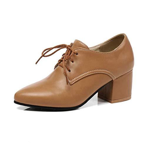 Zapatos Oxford de Plataforma con Cordones para Mujer Zapatos Oxford con Punta Puntiaguda Brogues Vestido...