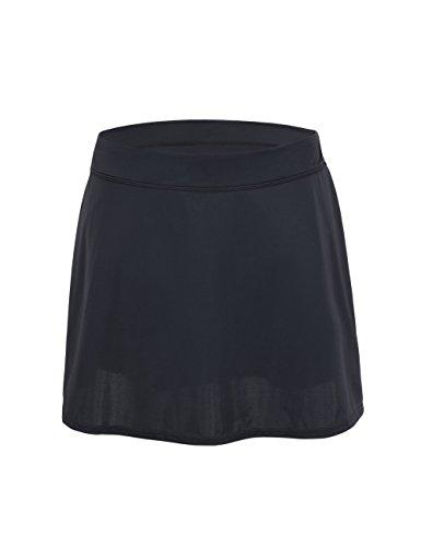 Hilor Damen Damen Schwimmrock mit UPF 50+ Bikini-Slip Baderock Tankinis Strandrock 50 Schawarz -