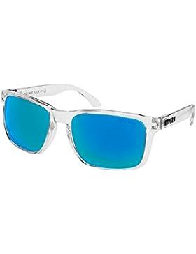 KYPERS Coconut-CC013, Gafas de Sol Hombre^Mujer, Clear Ice Blue Mirror, 57-18-140