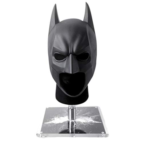 nihiug Batman Helm 1: 1 Reality Wearable Dark Knight Wearable Soldaten Halloween Cosplay,Black-OneSize