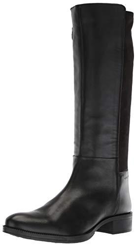 Geox Damen Tall Zip Riding Boot Laceyin 2, hoch, Reißverschluss, Reitstiefel, schwarz, 39 EU -