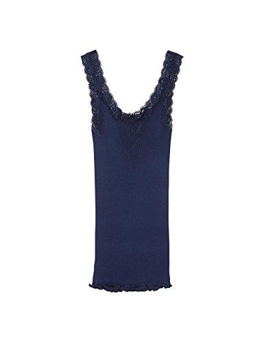 Intimissimi Damen Seiden-Top mit Ausschnitt aus Spitze Blau - 3094
