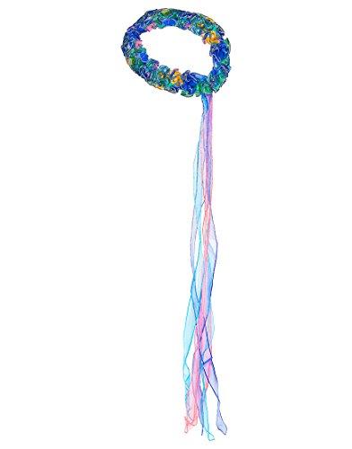Kids Kostüm Für Pfau - Dreamy Dress-Ups 50387 Wrap, Peacock, Haarschmuck Pfau mit glitzernden Schleifen, Blaue Pfau Pavo cristatus