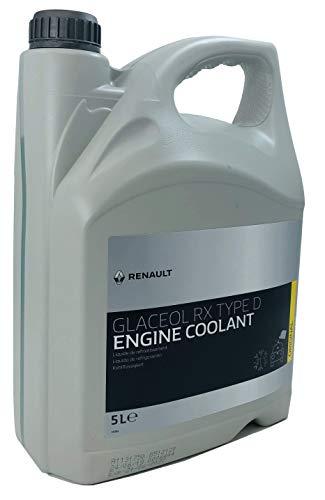 Renault Liquido refrigerante Glaceol RX Tipo D Giallo antigelo, 5 Lit
