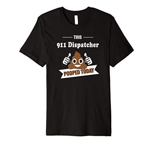 911Fahrdienstleiter T Shirt Pooped, Funny Geschenk Anrufer Bildschirme