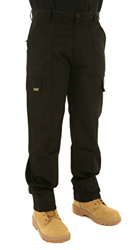 Mens Cargo Combat Work Trousers Sizes 28 to 56 By Site King With Button & Zip Fly