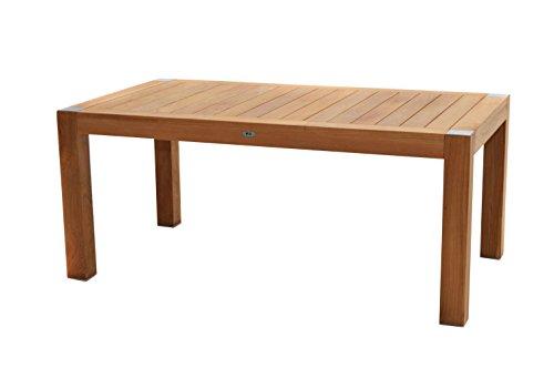 Ploß Lofttisch Bromo 200 x 100 cm - für 8 Personen geeignet - Premium Teakholztisch mit FSC-Zertifikat - eckiger Terrassentisch aus hochwertigem Naturholz - Gartentisch in Braun & höhenverstellbar
