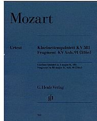 Clarinet Quintet K.581 & Fragmeclarinet, 2 violins, viola and cello