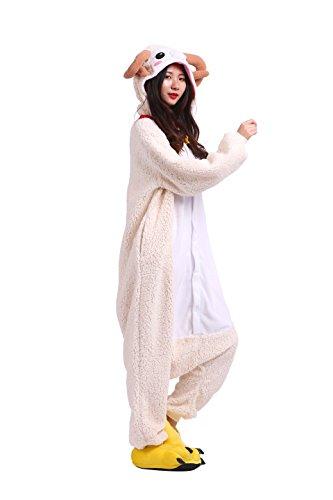 Imagen de yuwell kigurumi pijamas unisexo adulto traje disfraz animal animal pyjamas, nueva cabra s height 150 160cm
